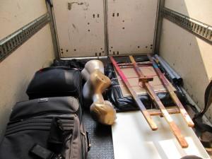 In the truck taxi... je fais parti des bagages...